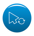 arrow cursor loading icon blue vector image vector image