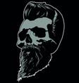 barber skull image vector image