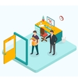 Boss dismissed employee Isometric 3d vector image vector image