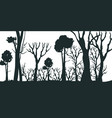 cartoon silhouette black forest vector image vector image