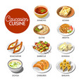 caucasian cuisine menu layout vector image vector image