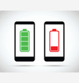 cell mobile phone battery charging icon vector image vector image