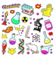 Chemistry Decorative Elements for Stickers vector image vector image