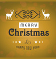 christmas greetings card design with elegant vector image vector image