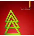 Christmas triangular tree vector image