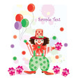clown cartoon vector image vector image