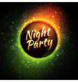 colorful flyer premium template for night vector image vector image
