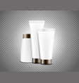 cream tubes isolated on transparent background vector image