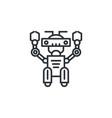 cute line robot vector image