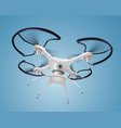 drone with camera realistic composition vector image vector image