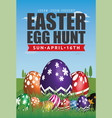 easter egg hunt flyer template design vector image
