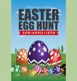 easter egg hunt flyer template design vector image vector image