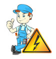 electrician for repair vector image