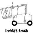 forklift truck transportation vector image