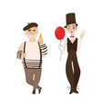 french characters typical artist and mime vector image vector image