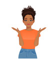 frustrated african woman vector image vector image