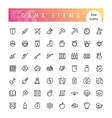 Game Items Line Icons Set vector image vector image