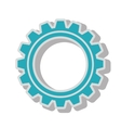 gear wheel team work isolated vector image vector image