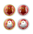 golden and silver badges with chicken head and vector image