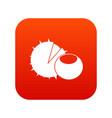hazelnuts icon digital red vector image vector image