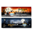 holiday halloween banners with pumpkins wearing
