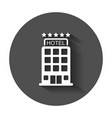 hotel icon simple flat pictogram for business vector image vector image