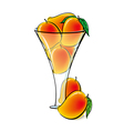 Mangos in glass vector image vector image