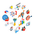 marketing icons set isometric 3d style vector image