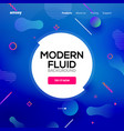 modern abstract fluid background gradient liquid vector image