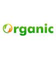 organic logo design template vector image vector image