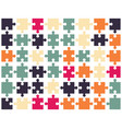 pieces of colorful puzzle vector image