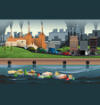 pollution concept vector image