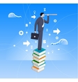Power of knowledge business concept vector image vector image