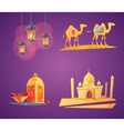 Ramadan Cartoon Icons vector image vector image