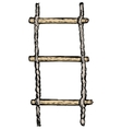 rope-ladder vector image vector image