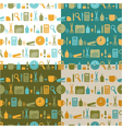 set of seamless patterns of office stationery vector image vector image