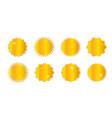 set starburst sunburst badges vector image