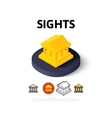 Sights icon in different style vector image vector image