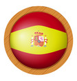 spain flag flag on round badge vector image vector image