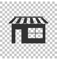Store sign Dark gray icon on vector image vector image