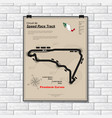street chase circuit plackard vector image vector image