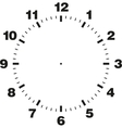 Template of clock dial vector image vector image
