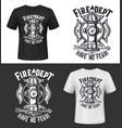 tshirt print with hydrant apparel mockup vector image vector image