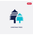 two color christmas trees icon from ecology vector image vector image