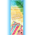 watercolor summer banner vector image