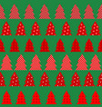 wrapping paper for christmas with red christmas vector image