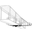 wright brothers first flight vector image