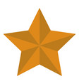 yellow star on white backgorund flat style star vector image