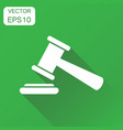 auction hammer icon business concept court vector image