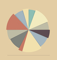 Pie chart for documents and reports vector image